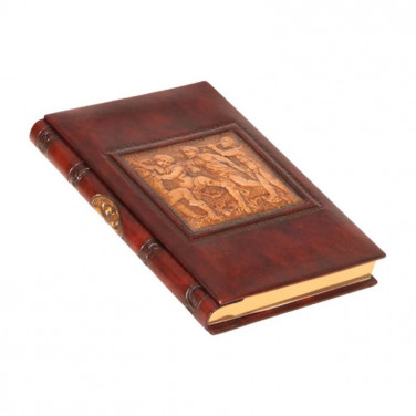 Ежедневник в кожаной обложке Mystery brown leather