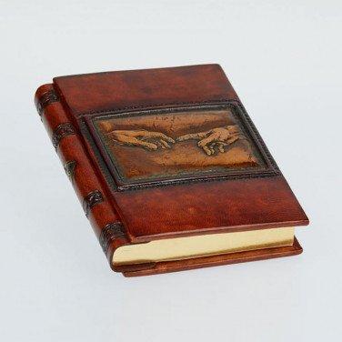 Шкіряний блокнот handmade чоловічий Criation brown leather