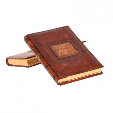 Блокнот в шкіряній палітурці Leonardo brown leather