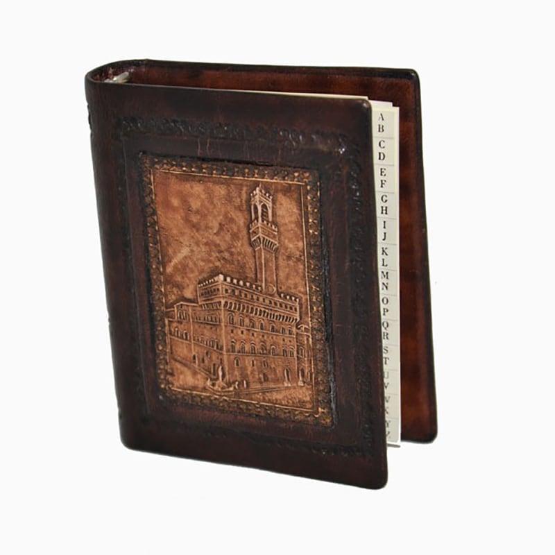 Адресная книга в кожаной обложке Palazzo Vecchio brown leather