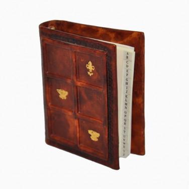 Адресная книга кожаная Sienna Mosaic brown leather