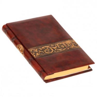 Адресная книга дизайнерская Arabesque Bronze brown leather