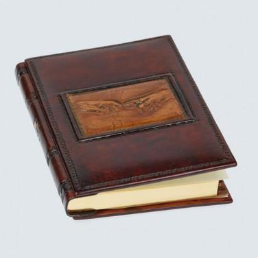 Адресная книга ручной работы Criation brown leather