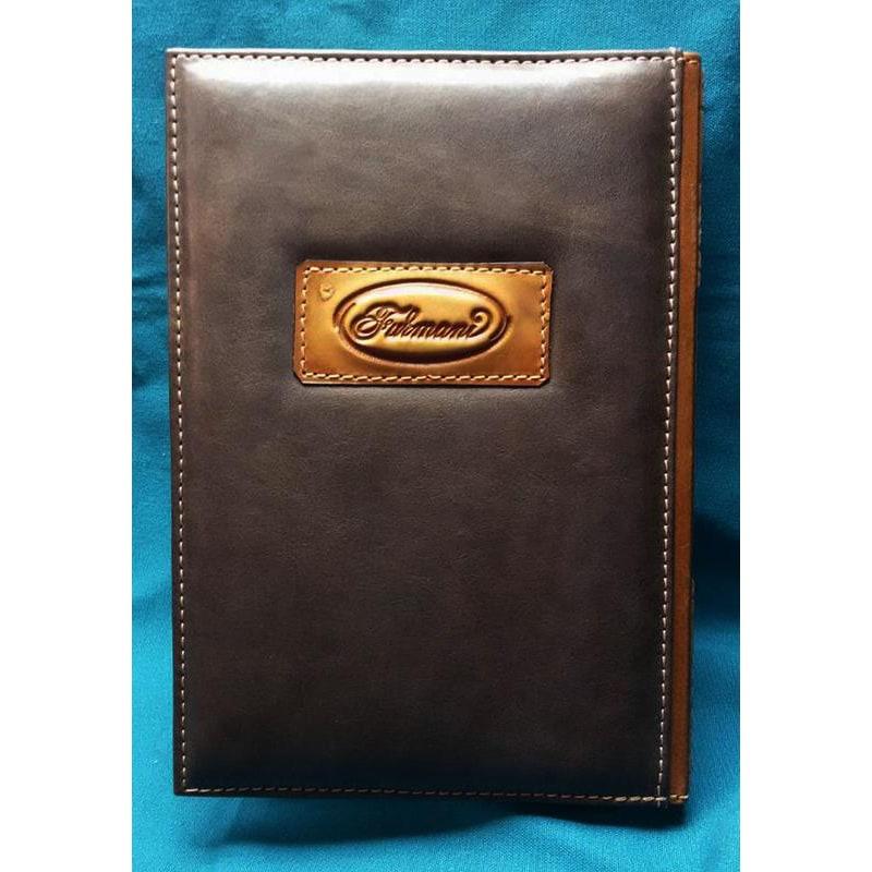 Кожаный блокнот handmade мужской Слизерин brown leather