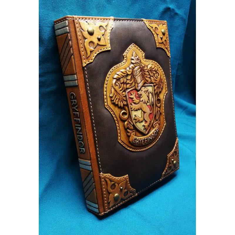 Блокнот в кожаном переплете мужской Гриффиндор brown leather