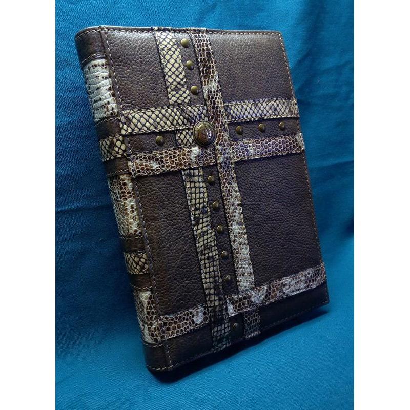 Щоденник у шкіряній обкладинці Python brown leather