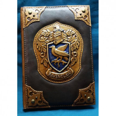 Кожаный блокнот дизайнерский мужской Когтевран brown leather