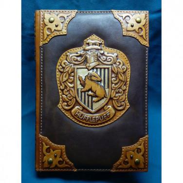Блокнот кожаный мужской Пуффендуй brown leather