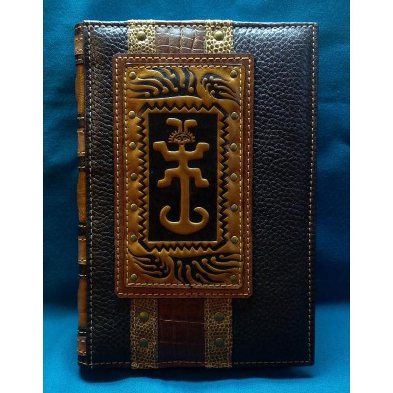 Кожаный блокнот ручной работы Талисман brown leather
