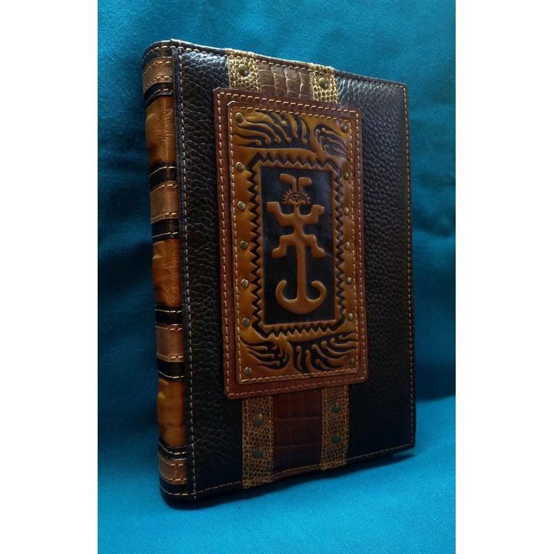 Шкіряний блокнот ручної роботи Талісман brown leather