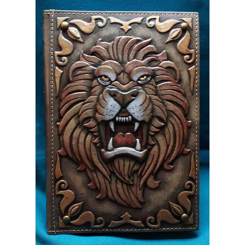 Ежедневник в кожаной обложке Лев brown leather