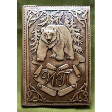 Кожаный блокнот ручной работы Гризли brown leather