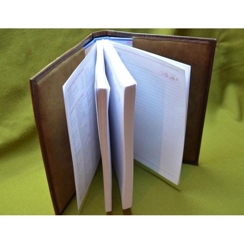 Шкіряний блокнот ручної роботи Грізлі brown leather