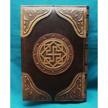 Блокнот в кожаном переплете Фолиант brown leather