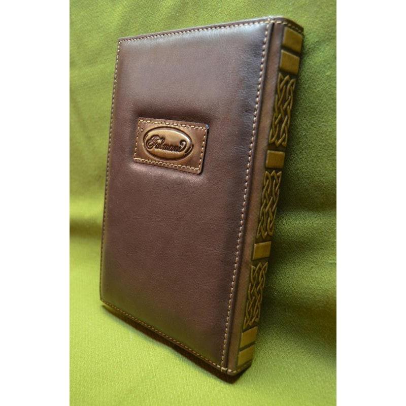 Ежедневник в кожаной обложке Аэробус brown leather
