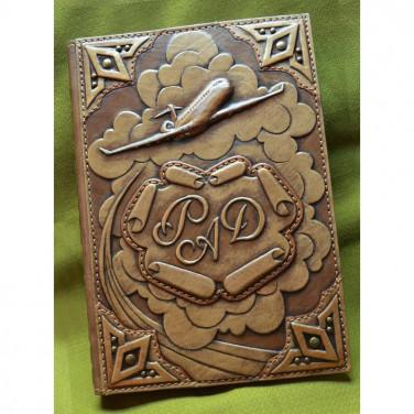 Щоденник у шкіряній обкладинці Аеробус brown leather