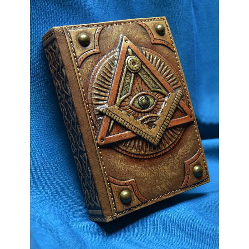 Блокнот в шкіряній палітурці Око Гора brown leather
