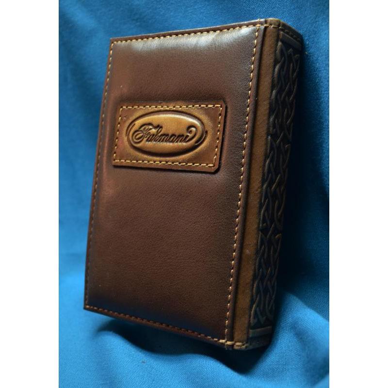 Блокнот в кожаном переплете Око Гора brown leather