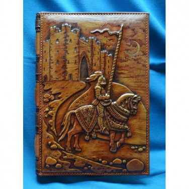 Блокнот в шкіряній палітурці Лицар Айвенго brown leather
