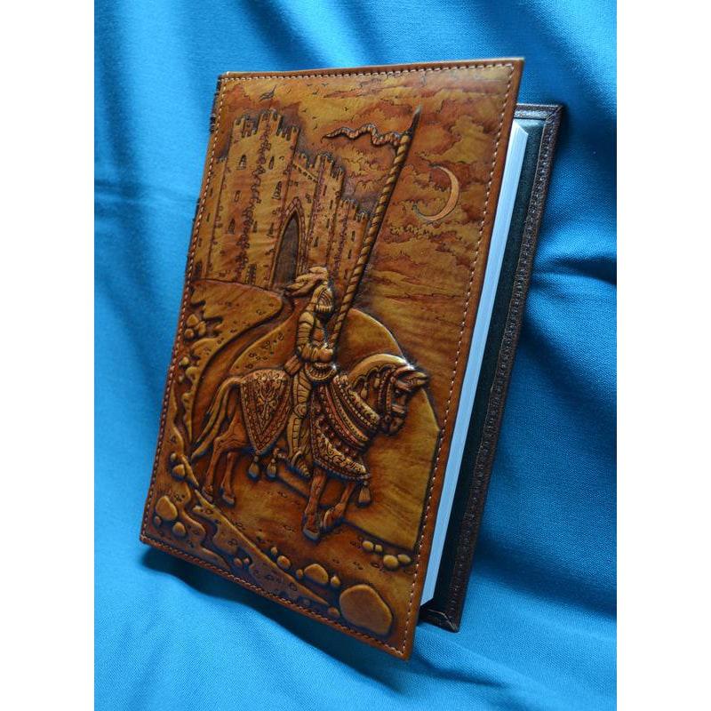 Блокнот в кожаном переплете Рыцарь Айвенго brown leather