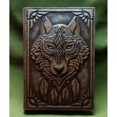 Шкіряний блокнот ручної роботи Зграя brown leather
