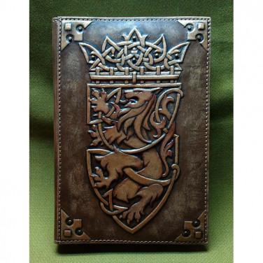 Шкіряний блокнот handmade Геральдичний Лев brown leather