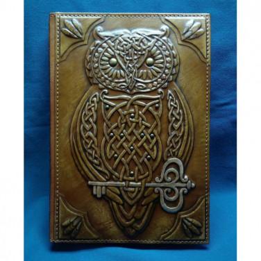 Щоденник у шкіряній обкладинці Кельтська Сова brown leather