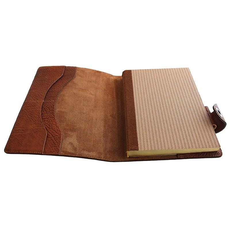 Кожаный блокнот Compact brown leather