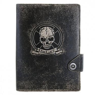 Блокнот в кожаной обложке Gothic black leather