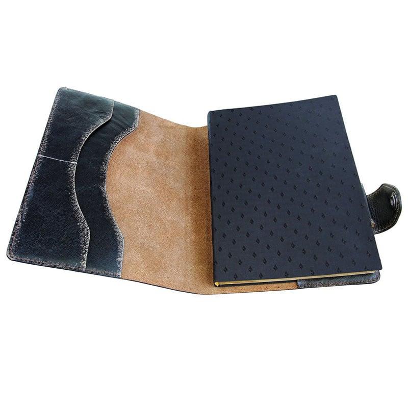Блокнот в шкіряній обкладинці Gothic black leather