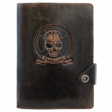 Блокнот в шкіряній обкладинці Brutality brown leather