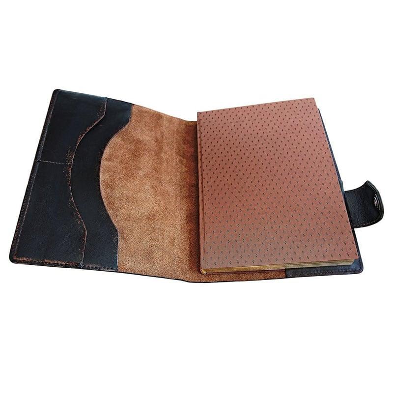 Блокнот в кожаной обложке Brutality brown leather