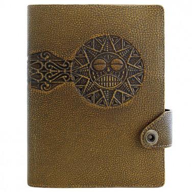 Блокнот кожаный для мужчин Solar brown leather