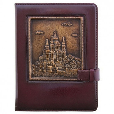 Блокнот в кожаном переплете St. Andrew's Church brown leather