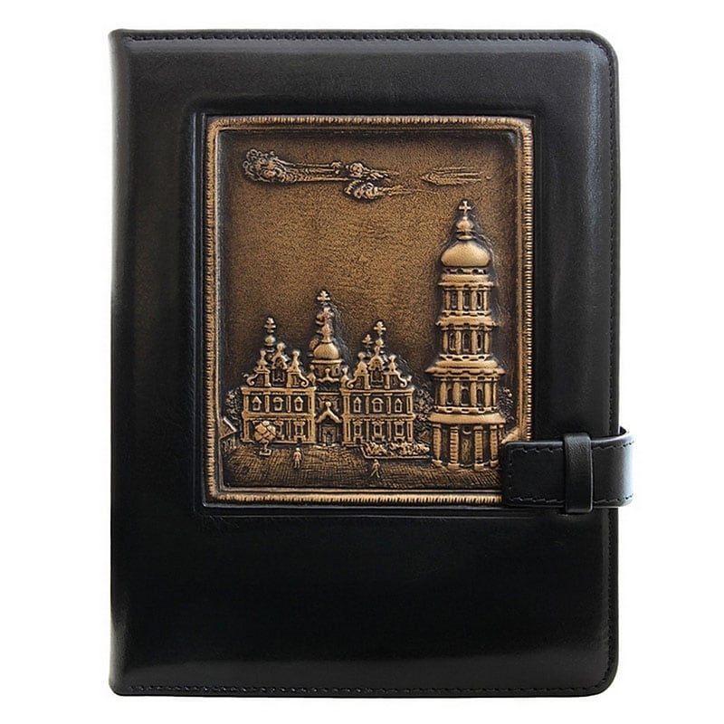 Щоденник в шкіряній палітурці Lavra black leather