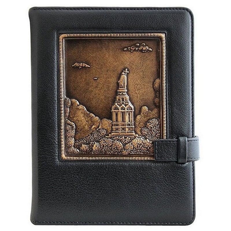 Кожаный блокнот Park Vladimirskaya Gorka black leather