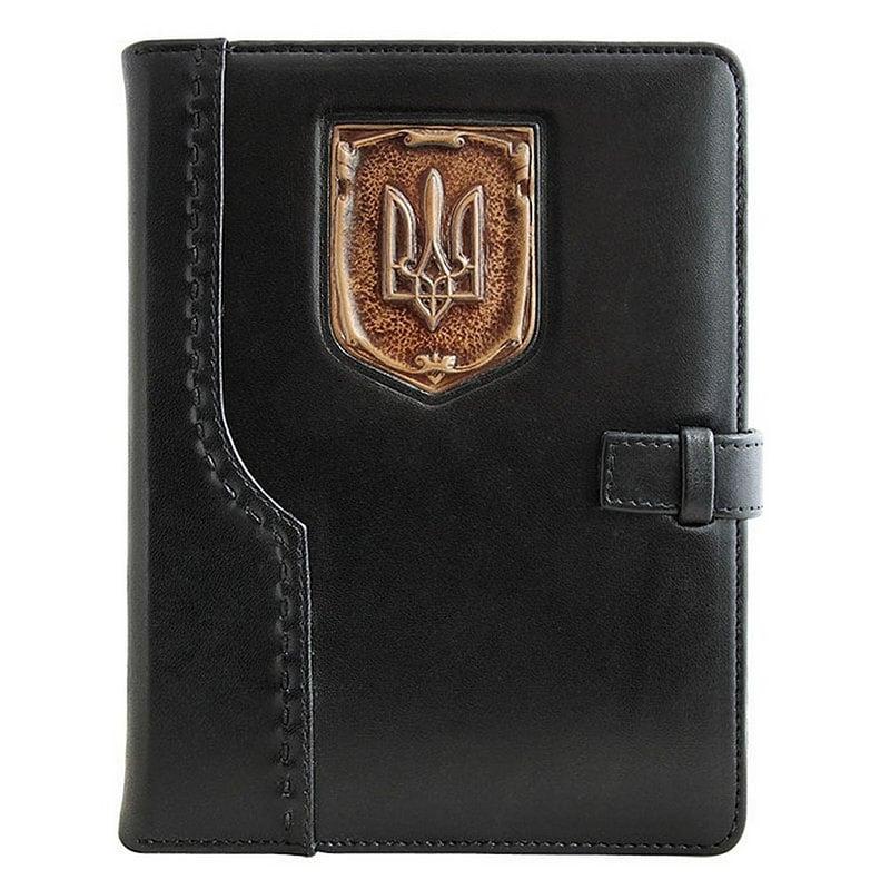 Блокнот в кожаной обложке Patriot black leather