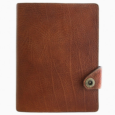 Кожаный блокнот Compact brown leather