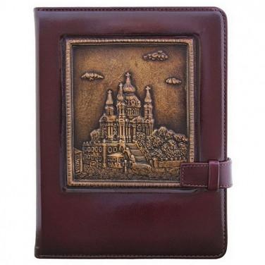 Блокнот в шкіряній палітурці St. Andrew's Church brown leather