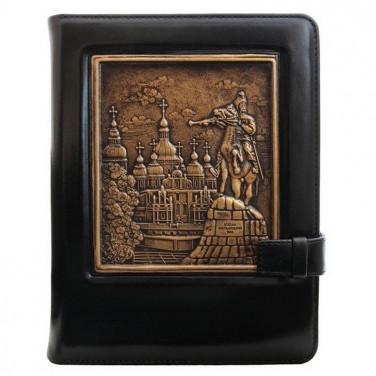Кожаный блокнот Bohdan Khmelnytsky black leather