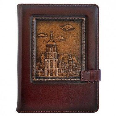 Кожаный блокнот St. Sophia brown leather