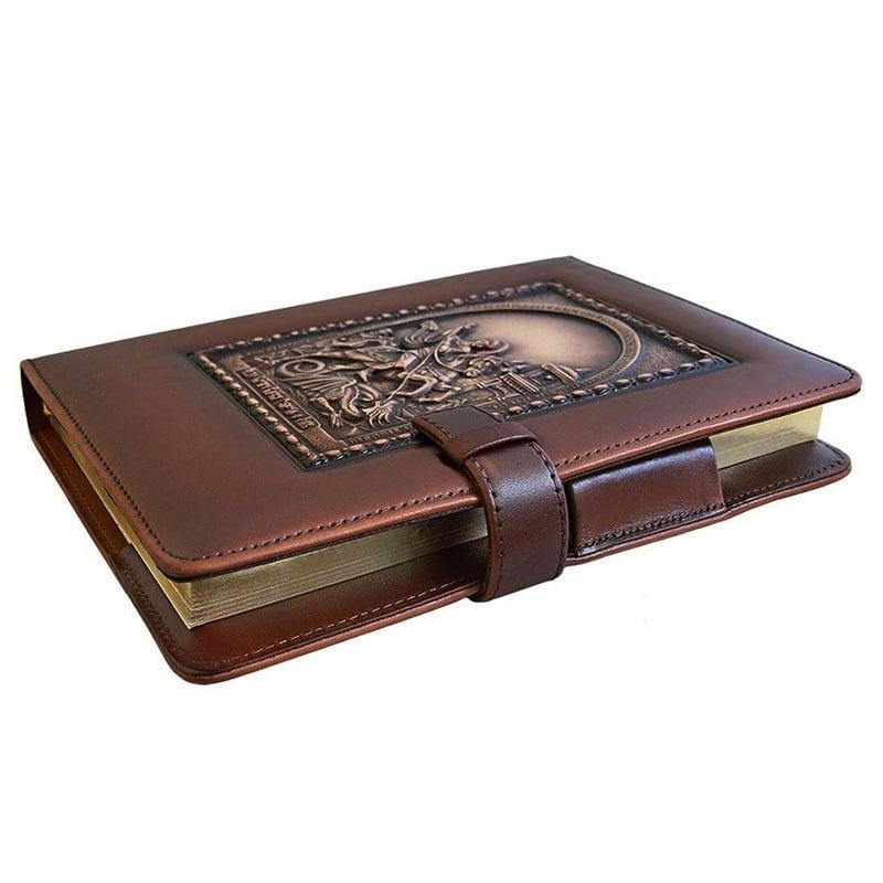 Блокнот кожаный George Victorious brown leather