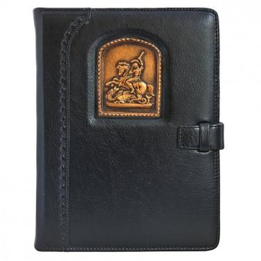 Блокнот в шкіряній обкладинці St. Georg black leather
