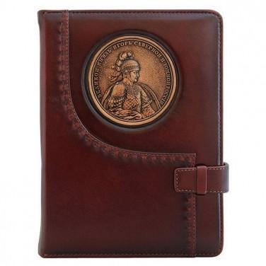 Блокнот в кожаной обложке St. Igor brown leather
