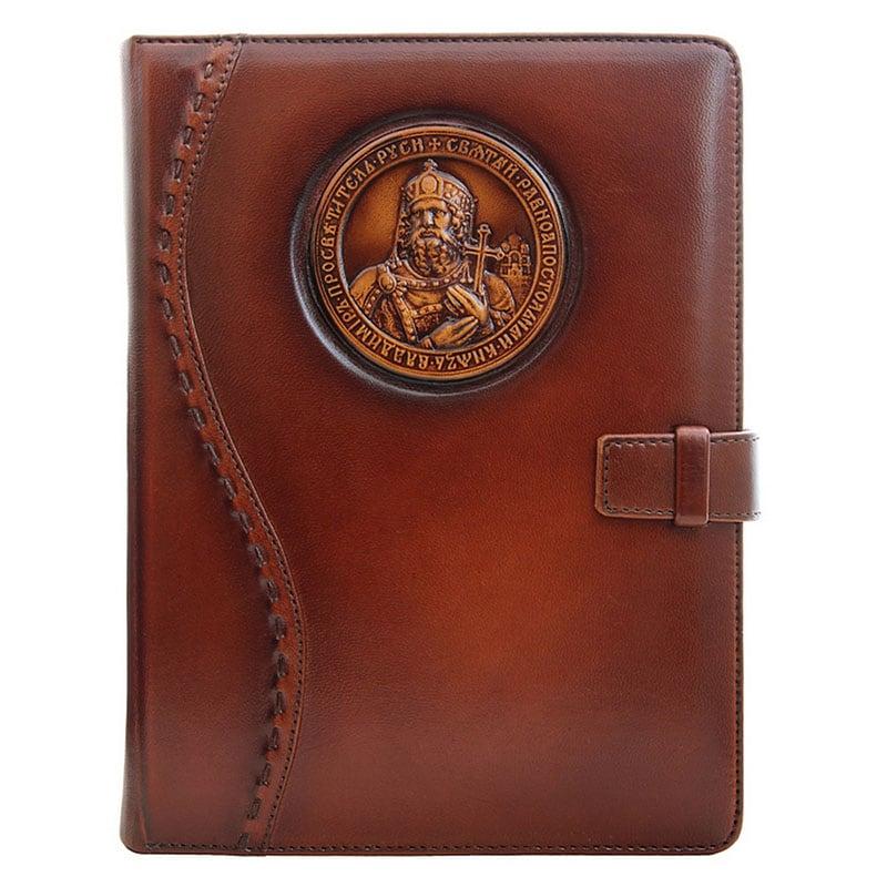 Щоденник в шкіряній палітурці St. Vladimir brown leather