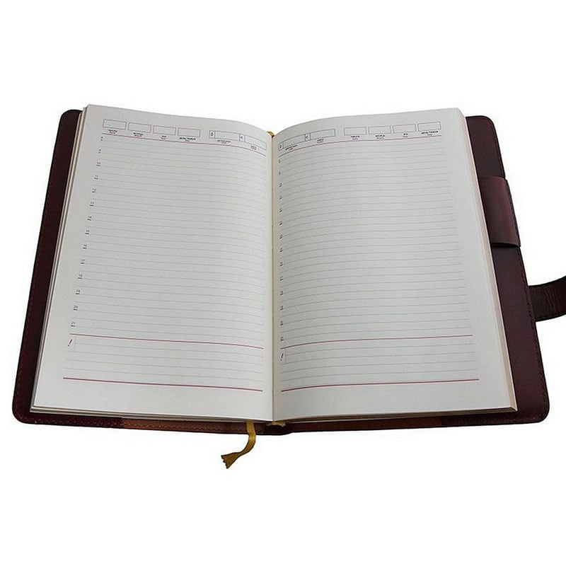 Ежедневник в кожаном переплете St. Vladimir brown leather