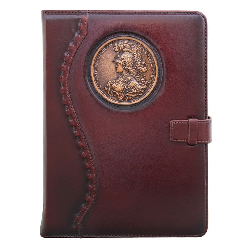 Кожаный блокнот Empress Catherine brown leather