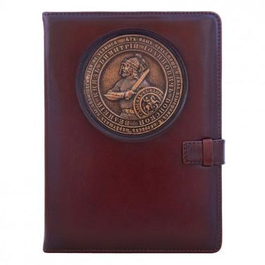 Блокнот в кожаной обложке Dmitry Donskoy brown leather