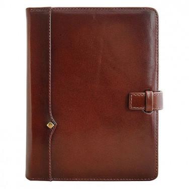 Шкіряний блокнот Diplomat brown leather