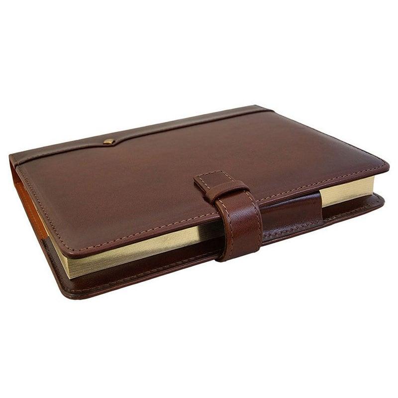 Кожаный блокнот Diplomat brown leather